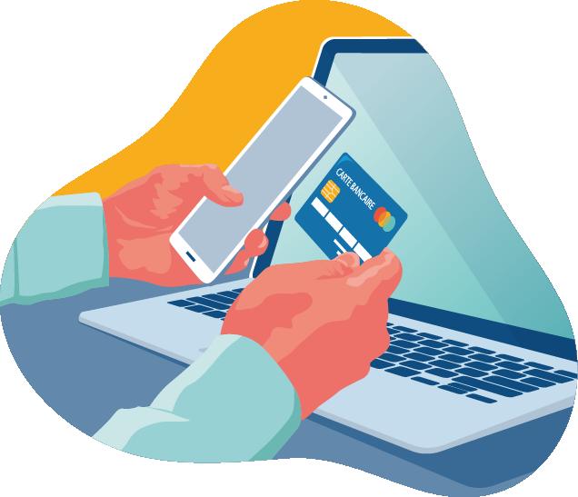 Mini illustration paiement en ligne notaire